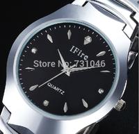 2015 new Upgraded version Tungsten steel Alloy Quartz watch Luxury business Women men Wristwatches Steel belt Quartz Watches