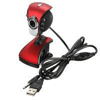 2 pcs/Lot _ USB 50M 6 LED Night Vision Webcam Camera Web Cam With Mic PC Laptop