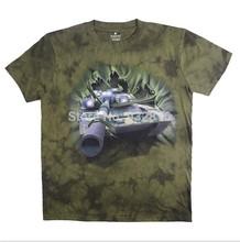 2014 new  T-shirt men stereo short sleeved tank Aircraft carrier 3d Printing Military leisure cotton T shirt men