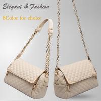 New 2014High Quality Women Handbag ,Fashion Plaid Solid women messenger bags,women leather handbags