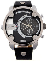 New fashion men's watches, leather strap sports watches, men's casual luxury brand military quartz watches