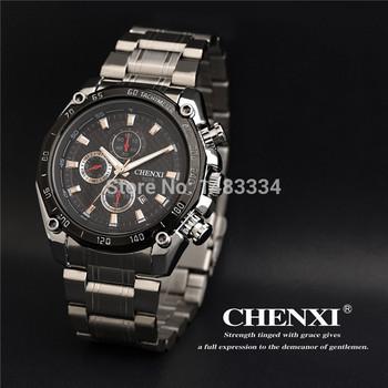Мода швейцарский импортные мужчины часы из нержавеющей стали кварцевые часы высококлассные бизнес водонепроницаемые часы мужчины CX-029B бесплатная доставка