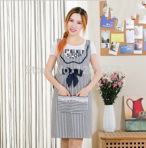 High quality Fresh Women LADIES Pretty 100% Cotton APRON Vintage Party Cooking apron Kitchen Princess apron DRESS Bib Apron(China (Mainland))