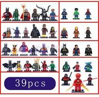 Marvel 39pcs Super Heroes Avengers Guardians of the Galaxy Green Lantern green arrow deadpool Minifigures building Blocks Toys
