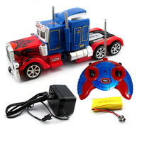 2015 New Remote control Transformation Optimus Prime Robots sound and lights about 30cm LEADER Classic Toys for boy's gifts5