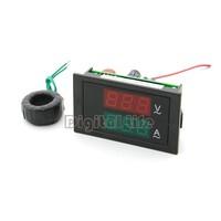 Hot Sell Digital AC Dual Display 300V 100A Volt Amp LED Panel Meter W Current Transformer TK1156 B14