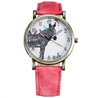 New Women's Fashion Watches Vintage Horse Pattern Design Retro Dial Quartz Watch Women Brand New Wristwatches relogio femilino