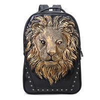 BRIGGS Vintage Brand Design PU Leather Men's Backpacks Vintage Personality Backpacks Students School Travel Bag