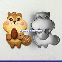 Fondant bakeware Super Q super cute squirrel stainless steel cookie mold / Fondant Cutter / 1 set wholesale,HMC119