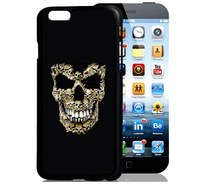For Apple Iphone 6 Case 4.7 Colored drawing 3D Cover Cases 18 models skull /  cartoon girl / butterfly back cases for Iphone