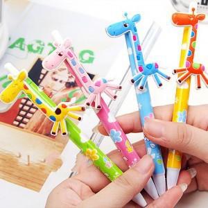 2015 Direct Selling Hot Sale 0.5mm No Material Escolar Caneta C229 Korea Korean Fancy Stationery Lovely Giraffe Ballpoint Pens(China (Mainland))