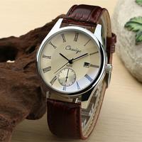 Calendar watch male strip commercial strap the trend of fashion quartz watch