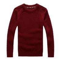 Winter thick fashion men's sweater Restore ancient ways round collar twist pullovers sweater