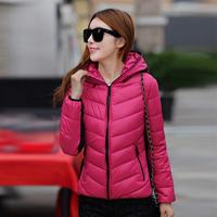 2014 autumn wadded jacket female outerwear hat short design long-sleeve slim cotton-padded jacket cotton-padded jacket ol top