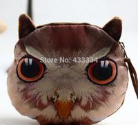 2015  fashion Cartoon key bag creative girl zero wallet cute animals packages gift:owl Tiger leopard lion hamsters panda bag
