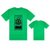New2015 Arrival Skateboard Element Men T-shirts Men Fashion Skateboard Street Boy Hiphop Hip-hop 100% Cotton Element T Shirt