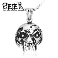 Wholesale 4 pieces Stainless Steel Small Punk Skull Necklace Pendant For Men New Design Fashion 2015 Jewelry BP8-033