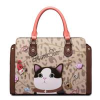 2015 designer brand handbags shoulder bag desigual bolsos pu leather women handbag purse casual animal print bolsas femininas