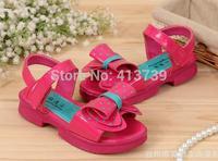 2015 girls lovely big bowknot adornment dot children sandals in summer Children's soft bottom shoes No mail