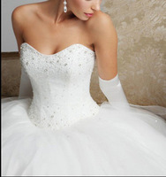 2014 New Style Wedding Dress Bridal Gown Proms Party Deb Ball Pageant Custom  1-0707