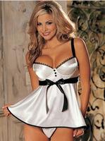 White 2015 New Design New Model Shoulder-straps Slip Dress Braces Skirt Women Night Skirt Sexy Lingerie Women Summer Dress