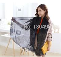 WJ0011 Five Colors Brand New 2015 Woman Scarf Long Arab Hijab Print Silk Voile Viscose Scarves Fashion Shawl/Wrap100cm*180cm