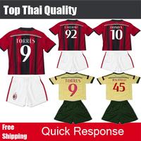 2015 AC MILAN KIDS Soccer JERSEY EL SHAARAWY TORRES MONTOLIVO HONDA Top Thai Quality 14 15 AC Milan Children Jerseys Football