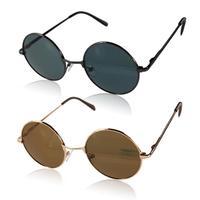 2015 Fashion Cool Hot HD Fancy Lens Sun Glasses Unisex Metal Frame UV400 Outdoor Sunglasses Men's Aviator Glasses