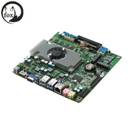 fanless mini pc 12v, mini linux embedded cheap fanless mini industrial pc motherboard with GPIO