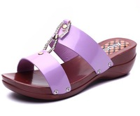 Sandals women's shoes in the summer of 2015 the new ms thick soles slippers cool slippers from mail