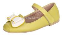 2015 round toe PU cow muscle flats shoes girls shoes princess kids shoes children shoes