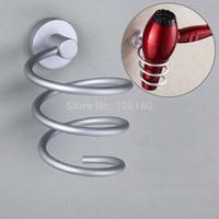 Wall-mounted Hair Dryer Rack Space Aluminum Bathroom Wall Shelf Storage Hairdryer Holder Freeshipping