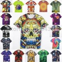 New Fashion men's 3D T-shirt print flowers leaves skull animals crown 3d Tshirt for men tops t shirt HT4