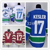2014-15 Stitched Vancouver Canucks 17 Ryan Kesler White/Blue/Red  Ice Hockey Jerseys Size:48-56