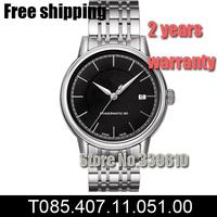 T085.407.11.051.00 men fashion Casual military watch luxury top brand relogios masculino steel belt mechanical watch black dial