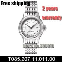 T085.207.11.011.00 women dress watches luxury brand Sports Watch steel belt Automatic Self-Wind watches Relogios Femininos