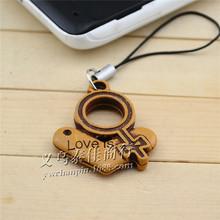 Faux wooden wood pendant pendant