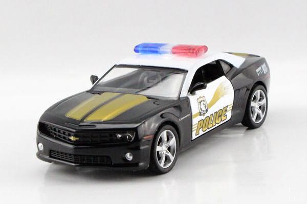 Free shipping UNI-FORTUNE 1:36 Chevrolet camaro police car alloy simulation model car toys(China (Mainland))