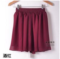 European and American 2015 women high waist double spring and summer chiffon pleated short skirt tutu skirts DQ138