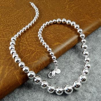 Ретро продажа серебро 925 бусины ожерелье 2015 воротник ювелирные изделия ожерелье ...