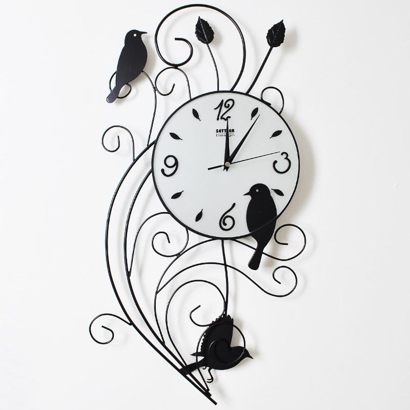 Drow settler wrought iron wall clock fashion pocket watch clock of decoration mute(China (Mainland))
