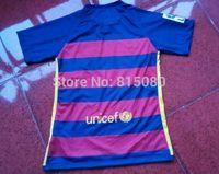 top quality Jersey 2015 2016 Soccer Jerseys  home &Away yellow Shirts Embroidered LOGO  SUAREZ I RAKITIC 4 MASCHERANO