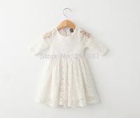 2015 Girl's summer lace flower dress , girls lace dress , dresses girl , 5pcs/lot   XGL19
