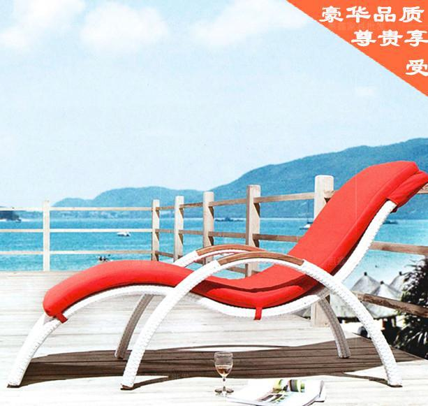 S -type recliner chair rattan lazy siesta recliner chairs lying bed luxury beach casual wicker chair bed Specials(China (Mainland))