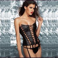 2015 Hot Europe&American Fashionable Corset Sexy Corset Palace PU Leather Corset Woman Costume Disfraces Sexy Bodysuit