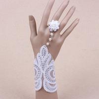 Bridal bracelet rhinestone armlessly accessories wedding jewellery lace chain