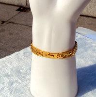 Gold Filled Roman Numeral Bracelet Cuff World Atlas Designer Fashion men Womens FREE SHIPPING
