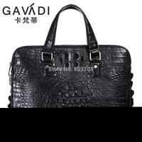 Free shipping 2014 alligator man bag leather handbag shoulder messenger bag upscale Korean computer bag