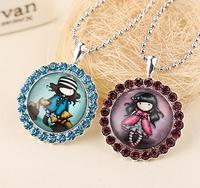 1 Pcs Free shipping Gorjuss Crystal Girl's Statement Necklace Women 24 Styles Choose