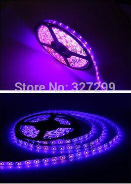 LED soft light strip SMD3528 powder/light purple light waterproof/no waterproof lamp 12 v 5 m 60 lamp bead(China (Mainland))